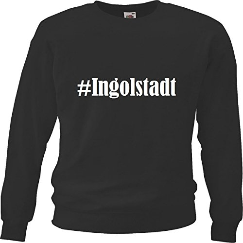 Reifen-Markt Sweatshirt Damen #Ingolstadt Größe S Farbe Schwarz Druck Weiss