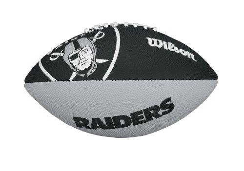 WILSON Football mit dem Logo des NFL Junior Teams, WTF1534IDOA, Oakland Raiders, Für Kinder
