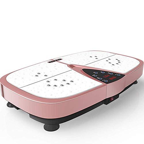 XBSXP Vibrationsplattengeräte mit USB-Bluetooth-Vibrationsfunktion Vibrationsplatte für Fitnessmassage- und Home Slimming-Plattformmaschinen pink