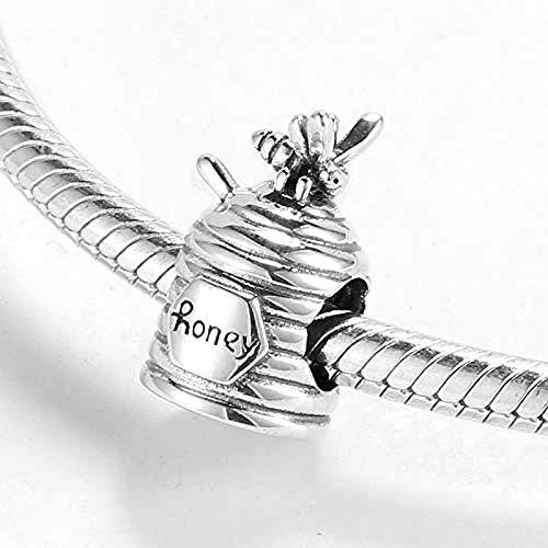 Zilveren Kralen Bedels,Echt 925 Sterling Zilver Zoete Honing Met Bijenkralen Fit Originele Bedelarmbanden Fijne Sieraden Maken