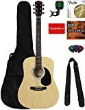 Fender Squier Dreadnought Acoustic Guitar - Natural Bundle...