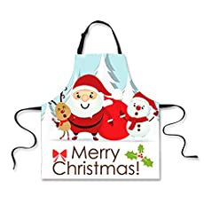 Polero Christmas Apron - Reindeer Santa Snowman