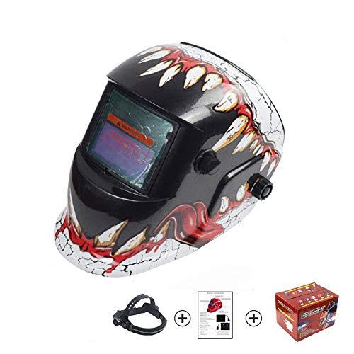 Swing around Solar Variable fotoeléctrico automático máscara de Soldadura al Arco de argón Soldadura antideslumbrante Soldador Sombrero Máscara Dientes Casco Protección Ocular Impresión