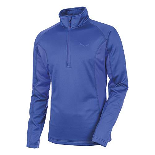 Salewa Puez (Fanes) Pl M L/S Tee - T-Shirt à Manches Longues pour Homme, Couleur Bleu, Taille 54 / 2X