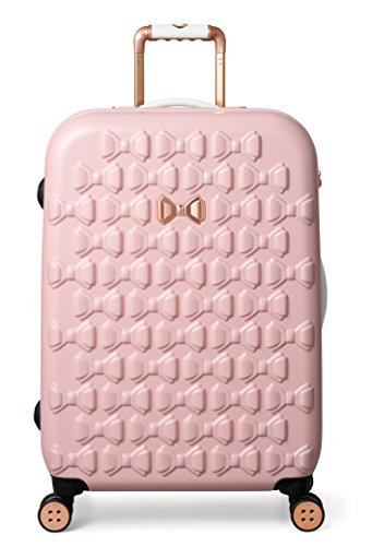 Ted Baker Hardside Medium 4 Wheel Suitcase - WOMENS, MOULDED BOW PINK