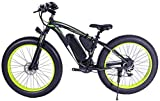 Elettrica Bici elettrica Mountain Bike 48V 1000W Bici di Montagna elettrica 26inch Fat Tire Ebike 21 Costi di Sospensione Beach Cruiser Mens Sport Freni Fork Mountain Bike a Disco Idraulici City Bike