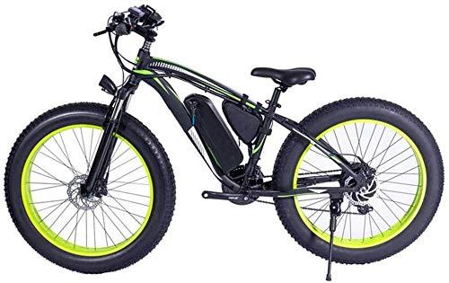 Elektro-Fahrrad Elektro-Mountainbike 48V 1000W Electric Mountain Bike 26inch Fat Tire Ebike 21 Geschwindigkeiten Beach Cruiser Mens Sports Federgabel Mountainbike Hydraulische Scheibenbremsen City Bik