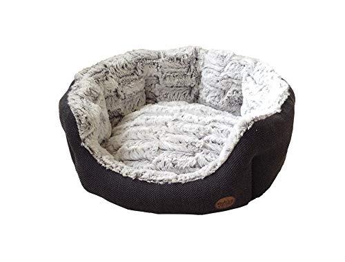 "Nobby 60513 Komfort Bett oval ""Cacho"", dunkelgrau - 4"