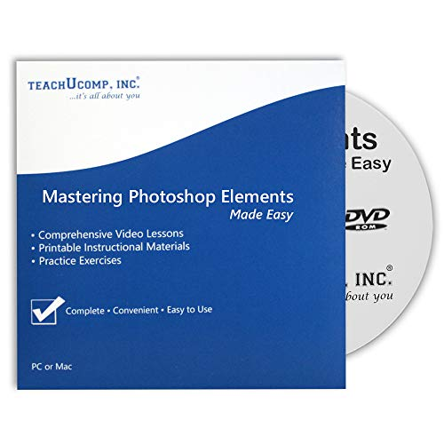 Price comparison product image Learn Photoshop Elements (R) 2018 Training Tutorial DVD-ROM Course: A Comprehensive Guide,  Video Lessons and PDF Manuals