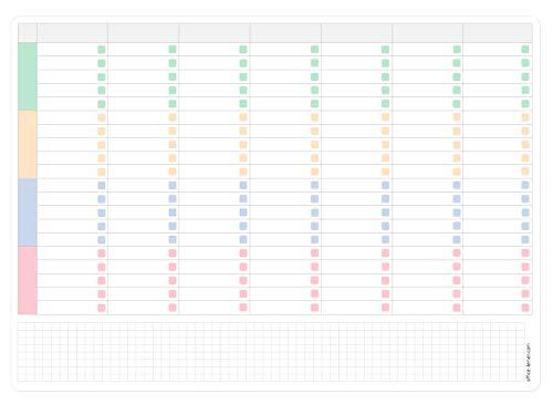 Wochenplaner A3 Whiteboard mit selbstklebender Rückseite, abwischbar, inkl. Stift
