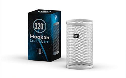 320° Hookah Shisha Carbón Carbón Guardia Escudo (Plata, Pequeña (11x20cm))