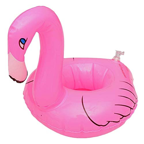 kylew Inflatable Fruit Drink Holders,Flamingo Inflatable Drink Holders,Inflatable Flamingo Coasters,Unisex Adult,3Pcs