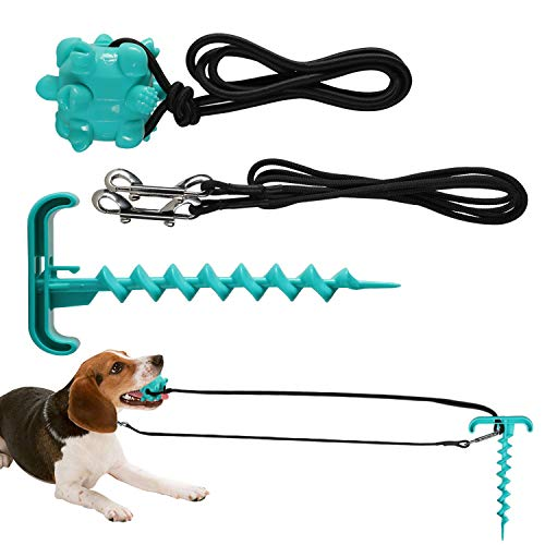 NEOROD Outdoor Dog Tug Toy, Interactive Tug-of -War Game for Aggressive Chewers Small Medium Large Dog Durable Tugger to Exercise and Fun Solo Play Dog Training Teething Indestructible Rope Chew Toy