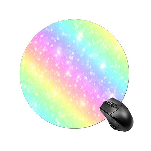 BYBART Mouse Pad, Colorful Rainbow Mouse Pad Round Non-Slip Rubber Mousepad Office Accessories Desk Decor Mouse Pads for Computers Laptop