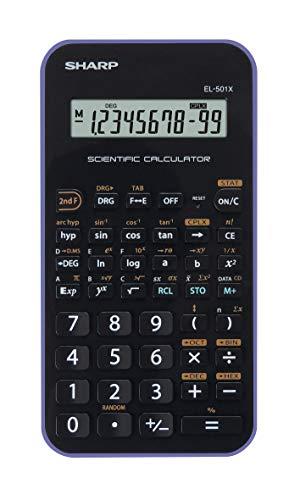 Sharp EL-501 X - Calcolatrice scientifica con ingresso D.A.L, funzionamento a batteria, colore: Viola/Nero