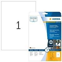 Herma 4577耐候性スクリーンラベル(A4、210 x 297 mmマットレジン耐性ロット20)、ホワイト
