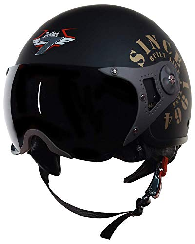 Steelbird SB-27 7Wings Tank Open Face Graphic Helmet (Large 600 MM, Matt...