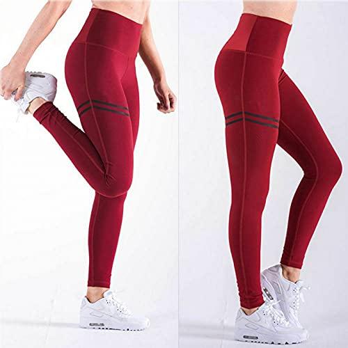 YSDSBM Mujer pantalón Deportivo sólido Estiramiento Entrenamiento Fitness Leggings Yoga Correr Deportes Leggins
