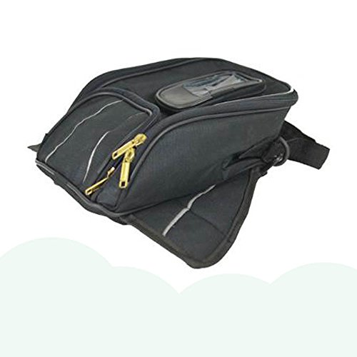 Vance Leather VS400 Magnetic Tank Bag with Reflective Piping