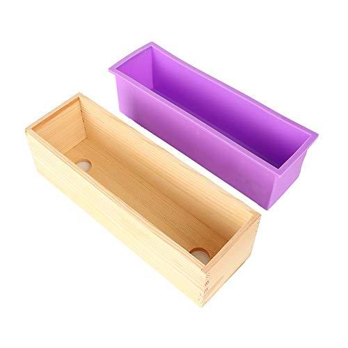 Doe-het-zelf handgemaakte zeepvormset, pakket zeep, siliconen voering, toastbox, handgemaakte zeep, eenvoudig te verwijderen