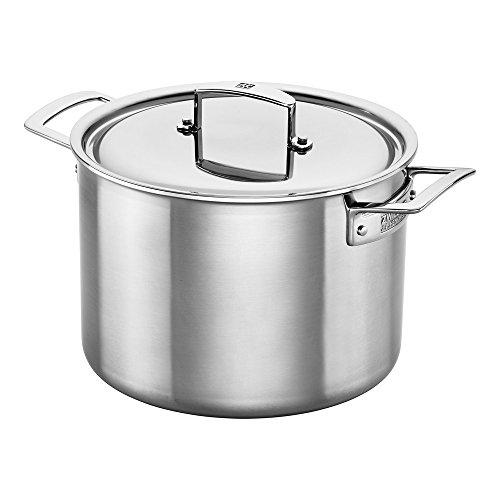 ZWILLING J.A. Henckels Aurora Stock Pot, 8-quart, Stainless Steel