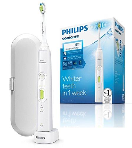 Philips Sonicare HX8911/02 HealthyWhite+ Spazzolino Elettrico con Tecnologia Sonicare, 2 Modalità, Bianco, Verde