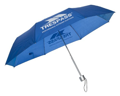 Trespass Compact Umbrella, blauw, Umbrella compacte paraplu/Knirps met beschermhoes, blauw