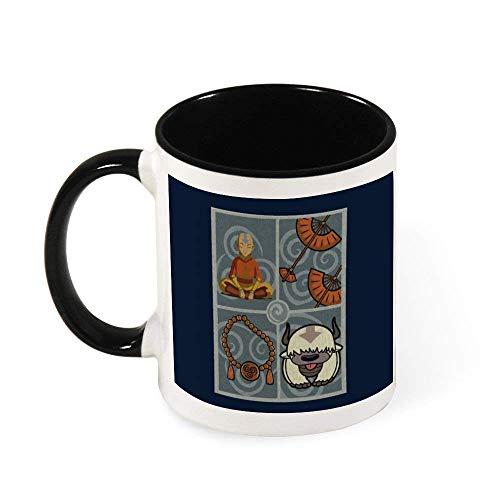 N\A Avatar Last Airbender Aang Air Nomad Colgante Taza de café de cerámica Taza de té, Regalo para Mujeres, niñas, Esposa, mamá, Abuela, 11 oz