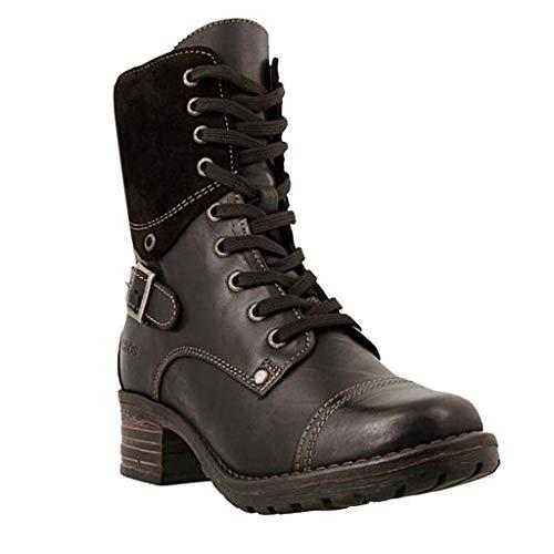 Boots Stivaletti Stivali Donna Scarpe Donna Moda Casual Tacchi Quadrati Stivaletti Corti Slip On (40,Nero)