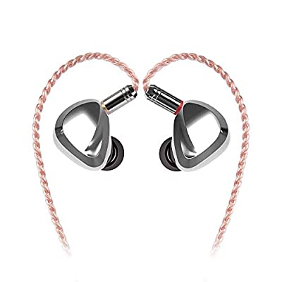 TRI I3 HiFi in Ear Monitor, Musician 3 Drivers in Ear Earphone with Planar Magnetic 1DD 1BA, Natural Tuning Earbuds Headphone with MMCX Cable