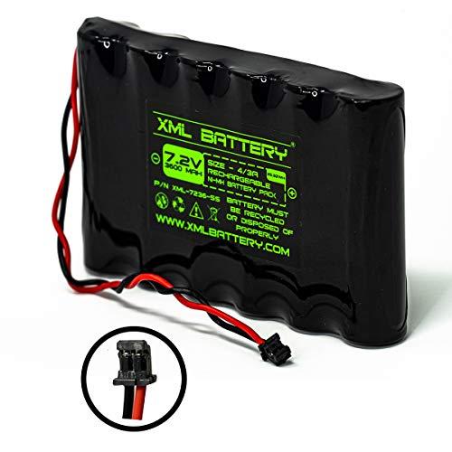 XML Battery (1 Pack) 6PH-H-4/3A3600-S-D22 7.2v 3600mAh Ni-MH DSC IMPASSA 9057 SCW-9057 SCW-9055 Battery Wireless Security System Colorado