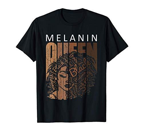 Melanin Queen Tee African American Strong Black Natural Afro T-Shirt