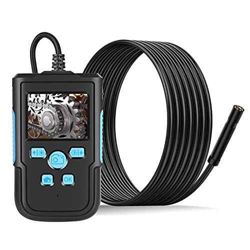 Staright Telecamera per endoscopio Schermo LCD da 2,4 '' ad alta definizione 1080P Obiettivo da 3,9 mm IP68 Endoscopio portatile Endoscopi digitali per la casa industriale con 8 LED luminosi