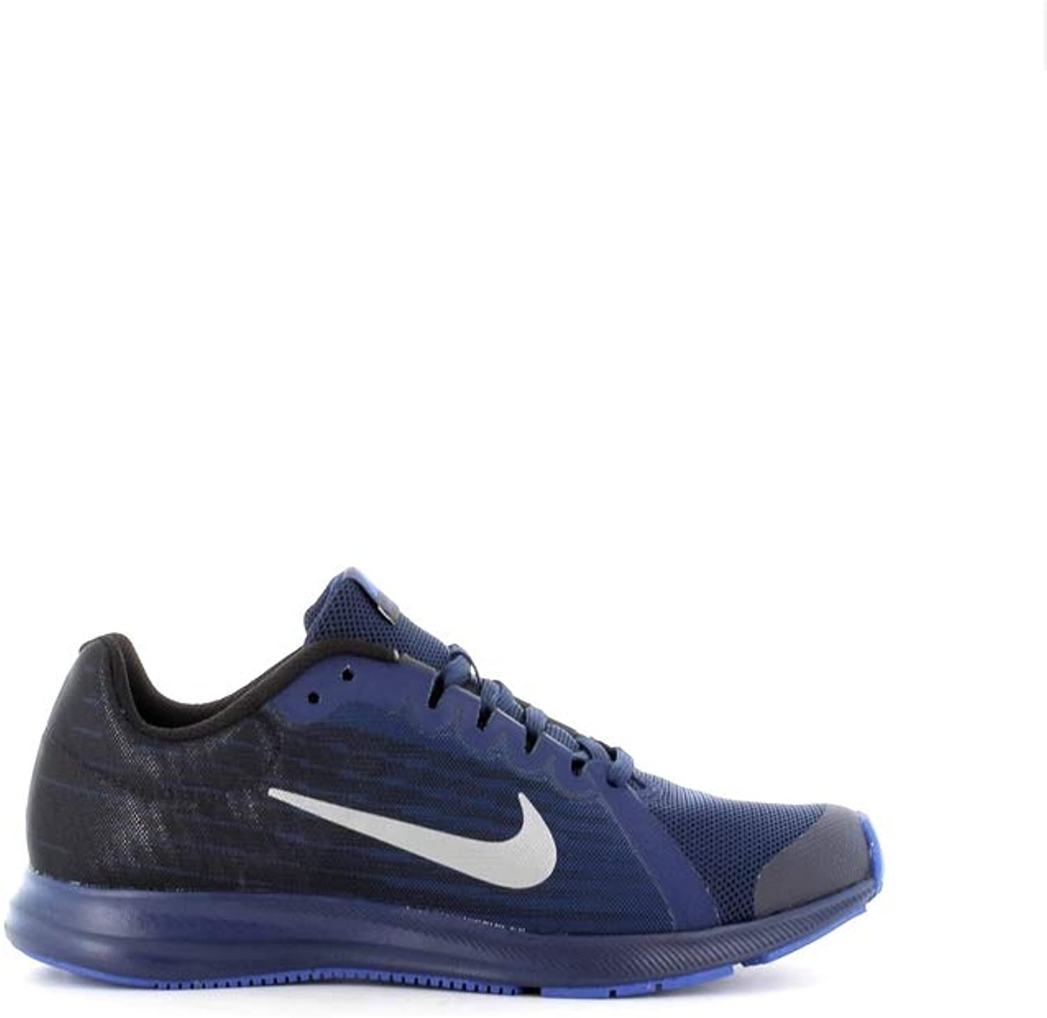 Nike Men's Downshifter 8 Rfl (gs) Fitness shoes, Multicolour (bluee Void Reflect Silver Black 400), 5.5 UK