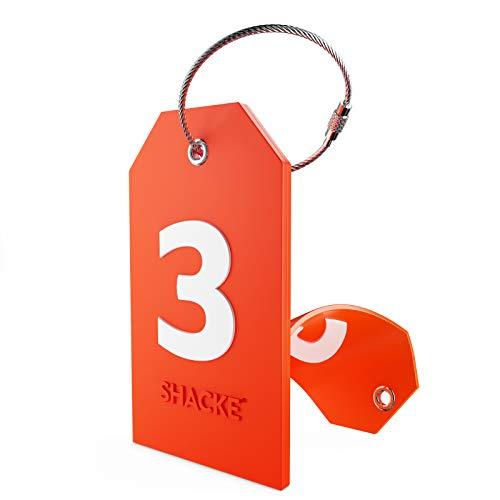 Etiqueta Inicial para Equipaje con Cubierta de privacidad Completa y Bucle de Acero Inoxidable (número 3)