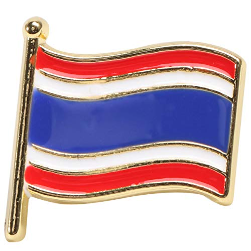 Happyyami Nationalflagge Stifte Emaille Anstecknadel Kupplung Zurück Brosche Stifte Corsage Abzeichen Kostüm Requisiten für Kleidertaschen Rucksäcke (Thailand)