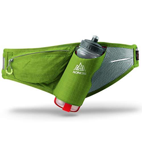 Gürteltasche multifunktionale Bauchtasche Wasser Widerstand Atmungsaktiv Hüfttasche mit Flaschenhalter für Laufen , Wandern, Radfahren, Klettern, Camping Reisen. (Mit Wasserkocher)