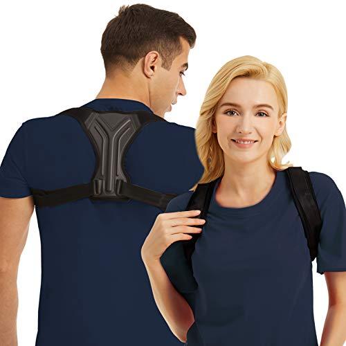 Posture Corrector for Women and Men - Posture Brace Strap - Adjustable Upper Back Support Brace, Back Straightener Provides Pain Relief from Neck, Back and Shoulder