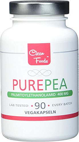 Pure Pea 90 Vegetable Capsules Palmitoylethanolamid 400mg Clean Foods Pea Optimal Certified 400mg high doses