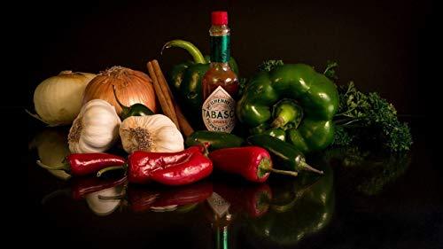 HGYTR Pepe Alimentare e Salsa alla Vaniglia Fai da Te Dipinti ad Olio digitali Pittura Kit di Vernice acrilica Decorazione Domestica