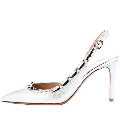 Themost Rivets Heels Slingback Pump