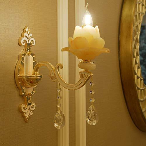 HehiFRlark - Luz europea de lámpara de pared con forma de loto para la decoración de casa de salón de dormitorio