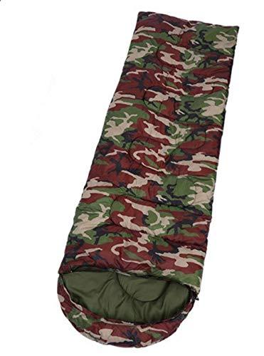 DADZSD Saco de Dormir de Camping para Adultos Camuflaje Militar Ligero Impermeable Bolsas perezosas con Bolsa de Transporte Senderismo al Aire Libre Mochilero-Ejercito Verde