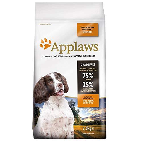 KRISP 1 x 7.5kg Applaws Small Medium Adult Dog Dry Food Chicken Meat Natural Pet Snack