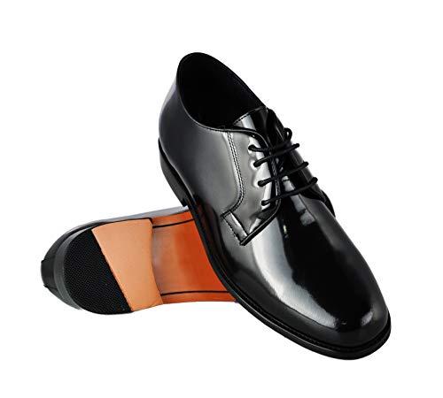 Zerimar Schuhe für Männer Erhöhen Sie 7 cm | Herrenschuhe mit Erhöhungen | Schuhe die ihre Höhe erhöhen, Schwarz, 40 EU
