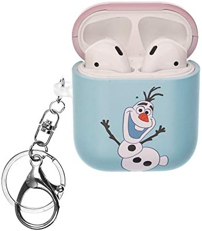 Frozen Compatible with AirPods Case Key Ring Keychain Key Holder Hard PC Shell Strap Hole Cover product image