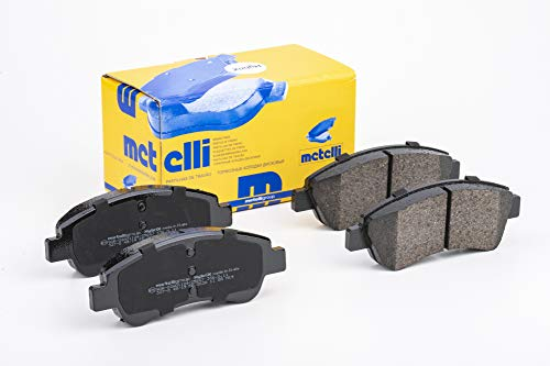 metelligroup 22-0327-0 Pastiglie Freno anteriori, Made in Italy, Pezzo di Ricambio per Auto / Automobile, Kit da 4 Pezzi, Certificate ECE R90, Prive di Rame