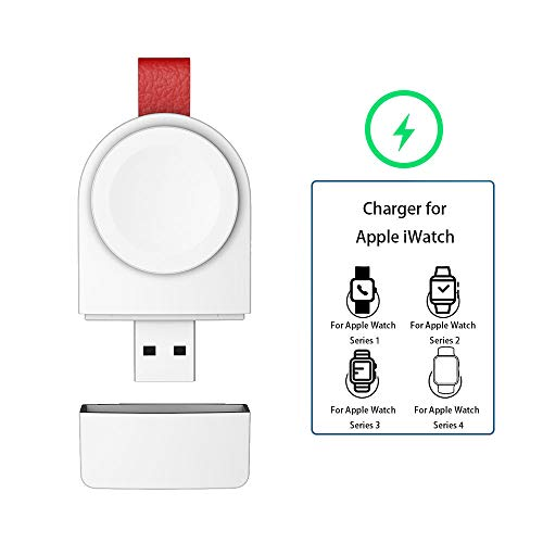 Watch Charger for Apple, Magnetic Portable Wireless iWatch Charger Compatible for Apple Watch Series 1 2 3 4 5 in 38mm 40mm 42mm 44mm