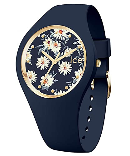 Ice-Watch Ice Flower M 019208 - Reloj de pulsera para mujer, color azul oscuro