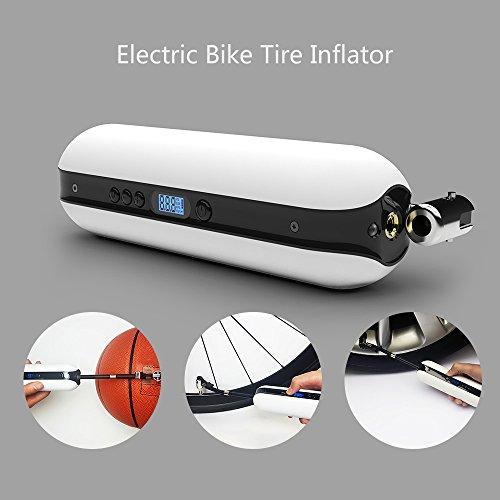 Walmeck Elektrische pomp voor op de fiets, 150 psi, oplaadbaar, draadloze bandenpomp voor MTB, racefiets, motorfiets, auto, luchtpomp, powerbank